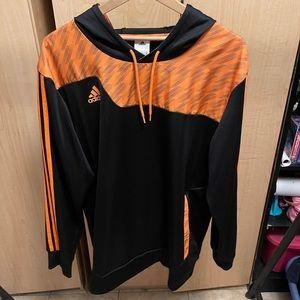Orange Adidas Soccer Pullover hoodie.